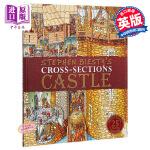 【中商原版】不可思议的大剖面:城堡的秘密(25周年版)英文原版 DK-Stephen Biesty's Cross-S