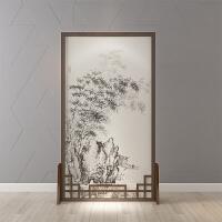 新中式屏风装饰房间隔断客厅卧室遮挡家用办公室简约现代实木家具 整装
