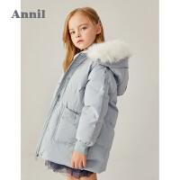 【2件4折�A估券后�r:243元】安奈�和��b女童中�L款棉衣2020冬