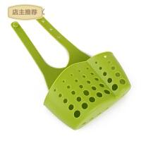 水槽沥水篮厨房用品置物架浴室卫生间肥皂多功能收纳沥水架挂袋SN3035 大款 绿色