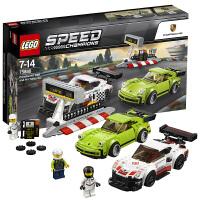乐高赛车系列 75888 保时捷 911 RSR和 911 Turbo 3.0 75888 保时捷