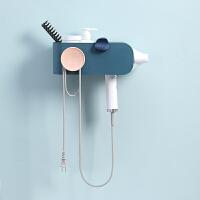 卫生间电吹风机架免打孔挂架壁挂式风筒放的洗漱台置物架挂钩支架
