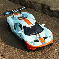 合金车模GT跑车模型声光回力金属可开门男孩玩具车