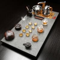 乌金石茶盘自动上水茶具套装长方形简约创意家用茶台茶海石材大号