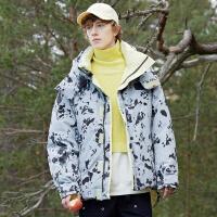 2.5折价:273;Lilbetter男韩版潮流男士冬季外套棉袄加厚2019新款迷彩棉衣