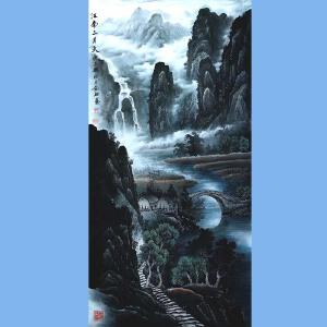 现为越世阁画院院长,中国艺术学会会员,艺宝在线特聘画家易剑赋(江南三月天)