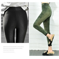 打底裤外穿潮流冬季高弹力女士弹力裤可外穿保暖潮流黑色外穿打底裤女加绒不起球