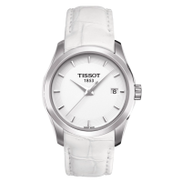 瑞士原装正品天梭TISSOT库图石英手表T035.210.16.011.00皮带女表