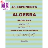 【中商海外直订】45 Algebra Problems (Exponents)
