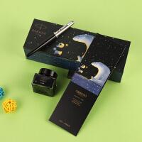 派克(PARKER)乔特钢笔创意熊猫IP墨水礼盒套装学生钢笔生日礼物刻字复古*猫礼盒 生日礼物 商务办公