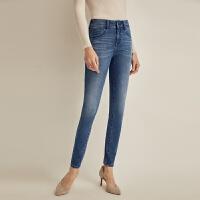 【再叠9折礼券】网易严选 女式四面弹3D提臀修身牛仔裤