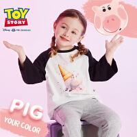 【每满299减100元】迷你巴拉巴拉玩具总动员系列女童圆领长袖T恤宝宝秋装2019新款