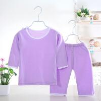 儿童睡衣夏季男女宝宝纯棉家居服套装薄款空调服中裤中袖全棉衣服