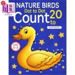 【中商海外直订】Nature Birds: Dot To Dot Count to 20 (Kids Ages 3-5
