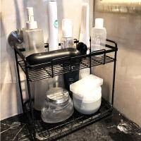 卫生间置物架免打孔落地洗手台护肤品桌面亚克力化妆品浴室收纳盒