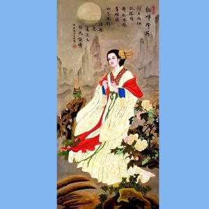 福建省美术家协会会员,福建省油画行业理事长林宝章(貂蝉拜月)
