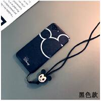 米奇米妮款iphone7plus手机壳卡通苹果6s套6plus日韩情侣X挂绳女8