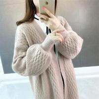 【版】秋冬上衣中长女装2019韩版宽松毛衣针织开衫外套