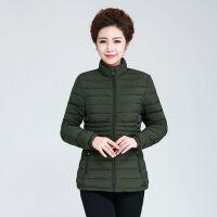 冬季棉衣女短款轻薄中老年30-40-50岁妈妈装棉袄 XL 建议100斤以下