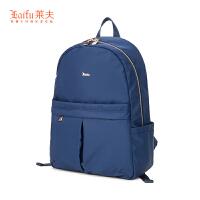 【2.5折价:224】莱夫双肩包女2018新款时尚电脑包背包女双肩帆布书包大容量旅行包