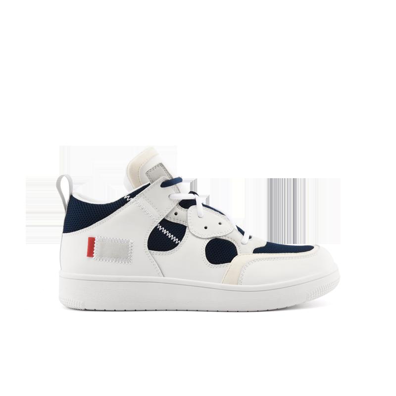 【网易严选 顺丰配送】男式潮流运动滑板靴 复合透气鞋面,轻潮撞色设计