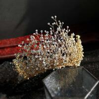 新娘手工水晶皇冠日韩式奢华大气水钻王冠头饰发箍超仙超闪配饰品