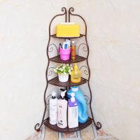 卫生间用品收纳架转角三角架洗手间脸盆架卫浴铁艺落地浴室置物架