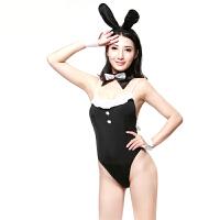 性感兔女郎COS服情趣内衣 角色扮演性感诱惑 情趣性用品 夫妻情趣玩具 黑色 均码