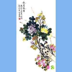 当代工笔画画家,北京九久书画收藏文化交流中心画家,北京美协会员,北京著名工笔画画家凌雪(秋菊傲霜)