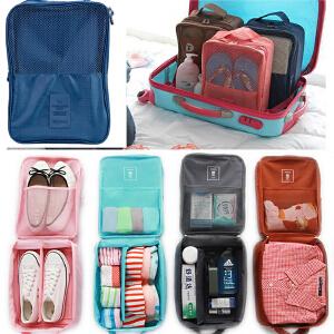 当当优品 旅行收纳鞋袋 三双装防水鞋子整理收纳包