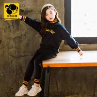 女童冬装套装2018新款童装韩版小女孩运动两件套中大童洋气两件套