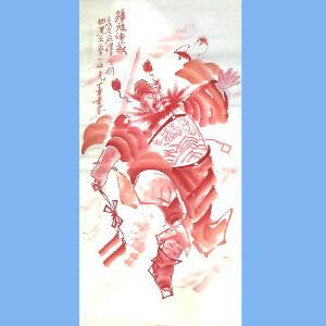 国家一级美术师,山东美协理事,山东版画家协会理事,济宁群艺馆书记张涛(钟馗神威)