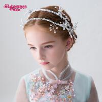 儿童发箍发饰头饰公主皇冠发箍仿珍珠女孩头箍演出发饰花童