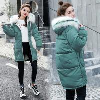 女中长款棉袄韩版冬装学生bf面包服加厚宽松棉衣外套 M 适合85-100斤
