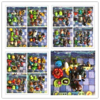 植物大战僵尸2玩具公仔玩偶车载摆件全套儿童礼物套装模型 一包