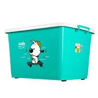 收纳箱塑料整理箱收纳箱特大号有盖储物箱衣服收纳盒储物箱三件套