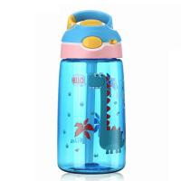 美国儿童水杯防漏吸管杯夏季男女小学生水壶可爱便携塑料杯
