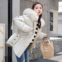 2018冬季实拍韩国东大门秋冬装棉服女大毛领学生棉衣外套棉袄女