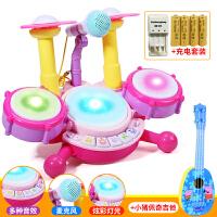 儿童架子鼓宝宝乐器男孩初学者敲打爵士鼓女孩音乐0-1-3-6岁玩具