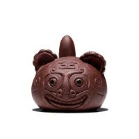 【】宜兴原矿紫砂壶茶宠摆件 吉祥虎紫泥 单个价 图片色