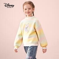 【2件4折券后价:98元】迪士尼童装女童长袖毛衣2021秋季新款儿童毛衫宝宝上衣洋气时尚