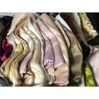 桑蚕丝素绉缎弹力重磅素绸缎真丝零料称斤纯