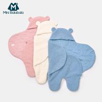 迷你巴拉巴拉童装宝宝睡袋2019冬新款婴儿加厚保暖羊羔毛卡通睡袋