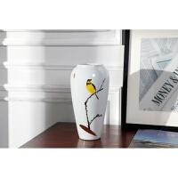 景德镇陶瓷产品陶瓷花瓶三件套陶瓷花盆中式摆件工艺陶瓷手绘陶瓷