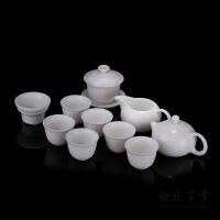 德化白瓷西施壶功夫茶具套装6人家用陶瓷泡茶壶盖碗茶杯整套礼盒