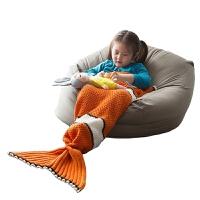北欧针织毛毯空调盖毯尼莫鱼儿童毛毯宝宝盖毯小毯子秋冬季 尼莫鱼针织毯 70*140cm