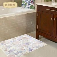 墙纸3d立体墙贴浴室卫生间门口地板贴房间装饰品贴画贴纸石子路贴SN3978 石子路贴 大