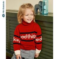 【3折价:81】迷你巴拉巴拉儿童针织衫男童毛衣冬装新品男宝宝高领洋气毛衫