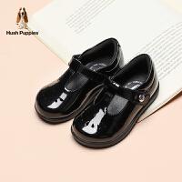【3折价:186.9元】暇步士童鞋匠心定制儿童皮鞋21春夏新款黑色学生鞋女童软底返校鞋