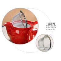 敬茶杯套装7头茶具结婚礼品红色茶杯道具双喜字创意陶瓷装饰道具彩礼陪嫁摆件 敬茶杯双喜